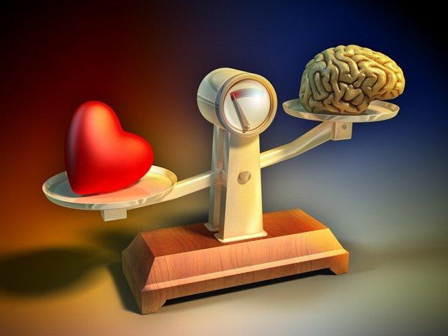 balança cérebro coração