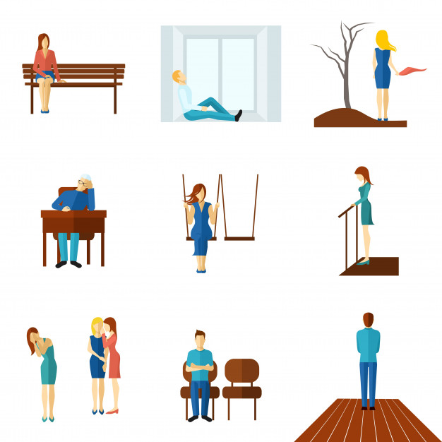 lonely-people-flat-icon-set_98292-1167